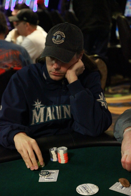 My poker face at rest, early in my most recent tournament at the Belle of Baton Rouge last Friday. Photo courtesy of the Mid-States Poker Tour.