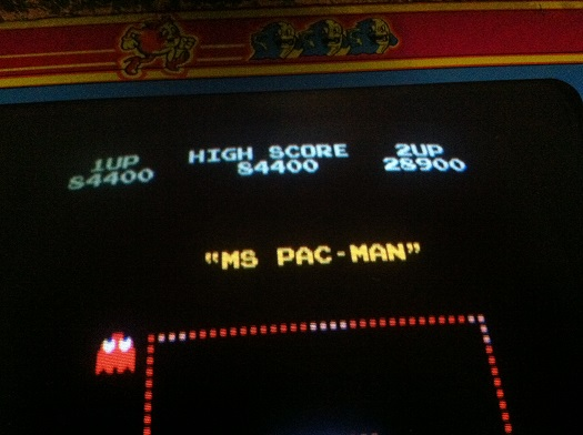 My record-high Ms. Pac-Man score, set earlier this week.