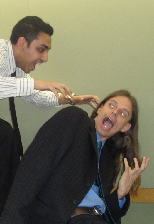 Farhan Ali (left) surprises me at the team dinner/team picture ceremony for RUDU at the end of the 2010-2011 season.  To this day, this is one of my favorite pictures of all time.  It's mostly just here to symbolize fear.  And because I had an excuse to use it.