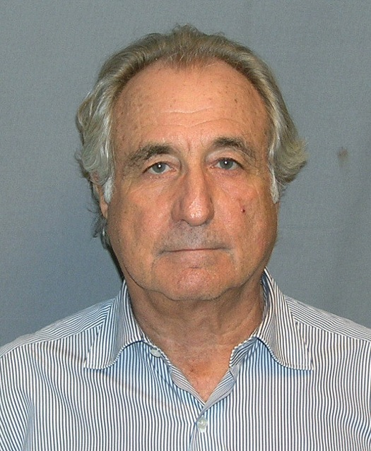 "Bernie Madoff, after being arrested in 2009.  If only he had called it ""saving for retirement!"""