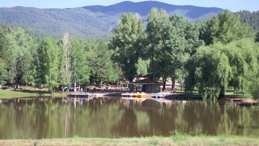 The memorable lake in the middle of the Conference Center in Glorieta, NM.  I am haunted by this lake.