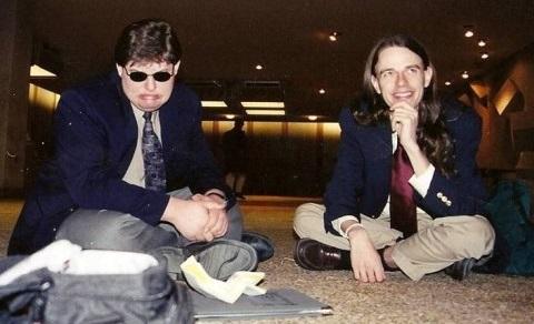 Bernbaum and I being goofy, Toronto Worlds 2002.  Photo by Beth Mandel.